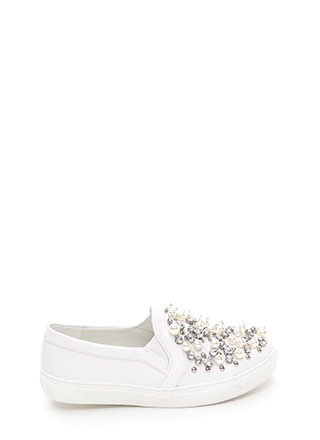 Treasure Chest Faux Leather Sneakers