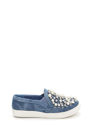 Treasure Chest Denim Slip-On Sneakers