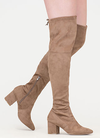 Around The Block Pointy Thigh-High Boots