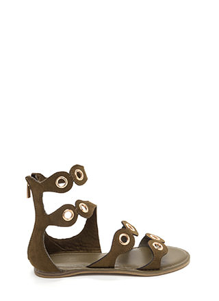 Warrior In Training Faux Suede Sandals
