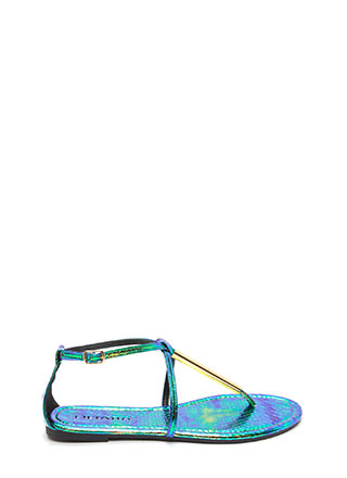 Chic Choice Snakeskin T-Strap Sandals