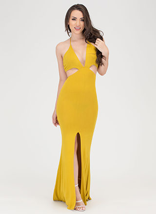 Tongue Tied Cut-Out Maxi Dress