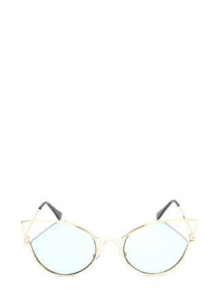Feline Good Cut-Out Tinted Sunglasses