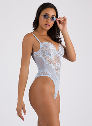 Sheer For You Mesh 'N Lace Bodysuit