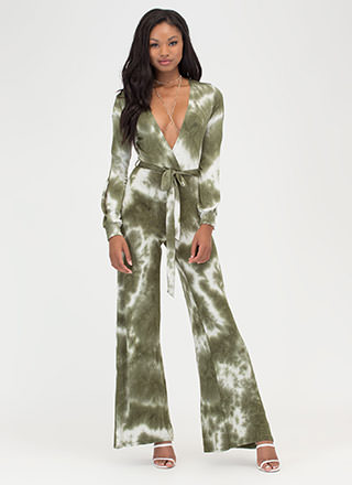 Beach View Tie-Dye Palazzo Jumpsuit