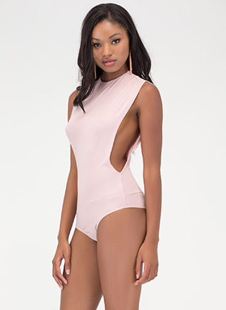 Side To Side Deep-Cut Bodysuit
