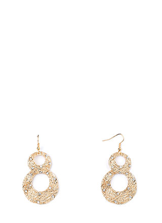 Organic Touch Textured Rhinestone Earrings
