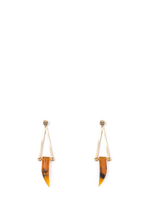 Modern Boho Faux Stone Earrings