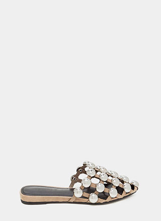 Dome Game Pointy Caged Slide Sandals