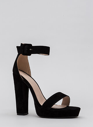 Buckled Beauty Chunky Platform Heels