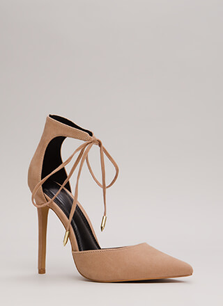 Point In The Right Lace-Up Heels