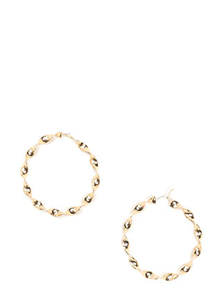 With A Twist Oversized Hoop Earrings