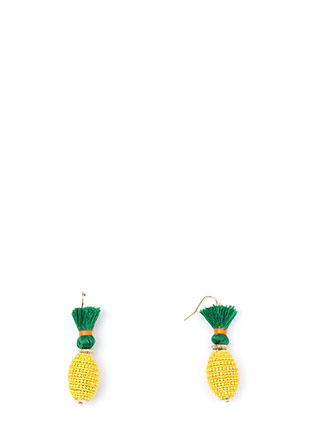 Pina Colada Beaded Earrings