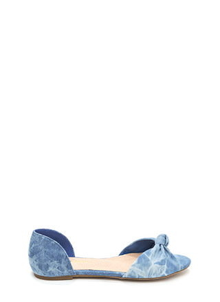 Knotty By Nature Denim Flats