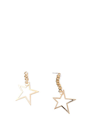 Star Power Asymmetrical Earrings