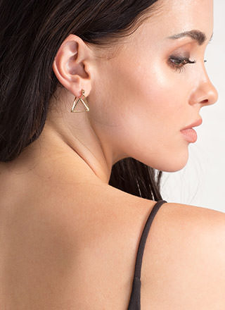 Fresh Dimension Triangle Earrings