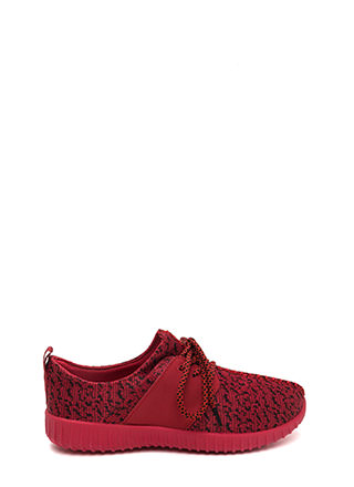 Run The World Knit Lace-Up Sneakers