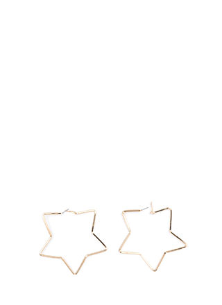 Reach For The Stars Oversized Earrings