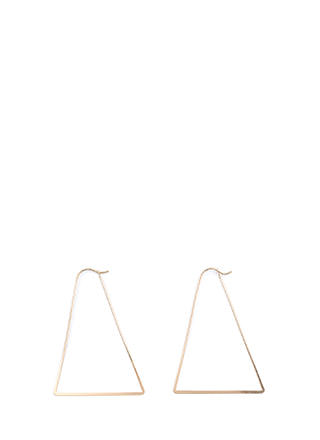 Modern Chic Triangle Earrings