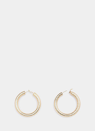 Hoop Theory Textured Earrings