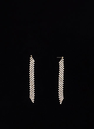 Dripping In Diamonds Rhinestone Earrings