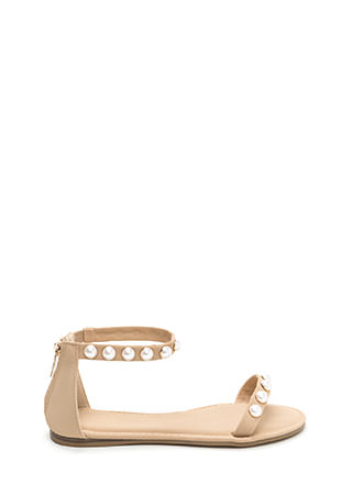 Jewel Box Strappy Faux Nubuck Sandals