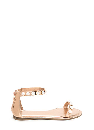 Jewel Box Strappy Metallic Sandals