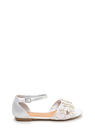 Petal Pusher Shiny Faux Suede Sandals