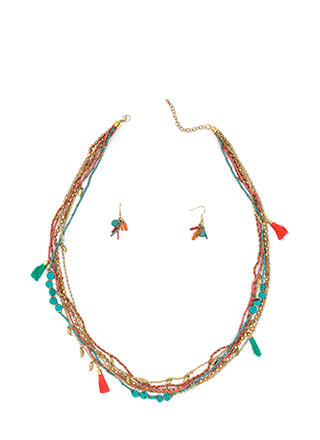 Bohemian Babe Beaded Necklace Set
