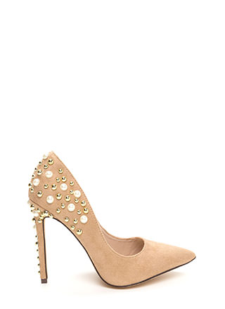 Sparkle Power Pointy Faux Suede Heels