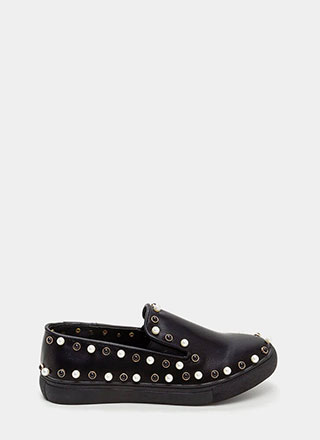 Bejeweled Beauty Faux Leather Sneakers