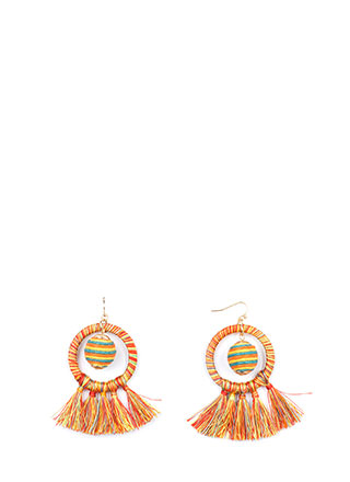 New Party Threads Ball Tassel Earrings
