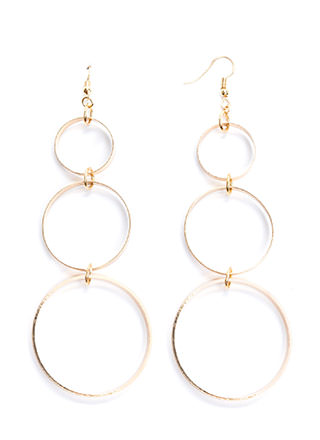 Three-Piece Band Circle Earrings