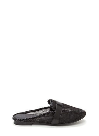 Great Catch Faux Leather Mule Flats