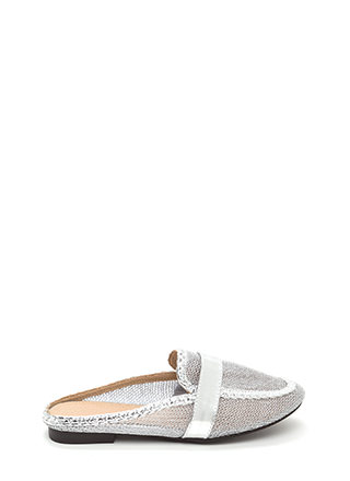 Great Catch Metallic Mule Flats