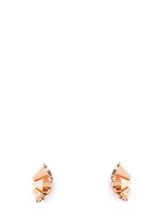 Cut To The Cone Curled Earrings
