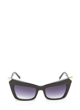 Cool Cat Metallic Point Sunglasses