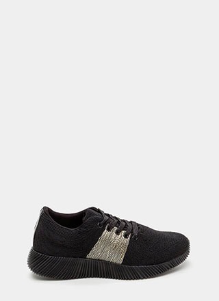 Gleam Up Textured Contrast Sneakers