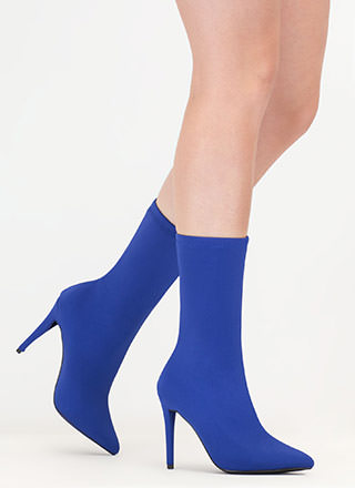 Simply Sleek Pointy Sock Booties