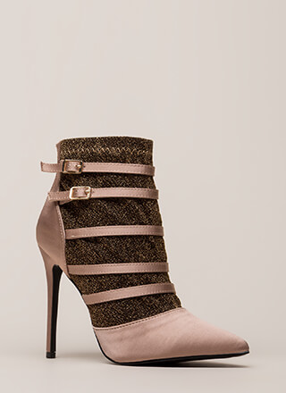 Layer It Down Pointy Caged Heels