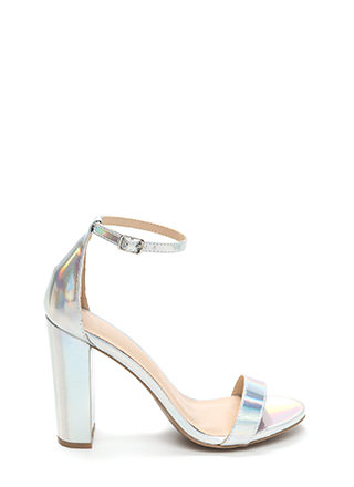 Pure 'N Simple Chunky Hologram Heels