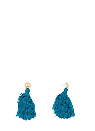 Tassel Me Twice Long Earrings