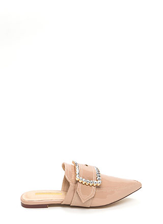 Buckle My Shoe Jeweled Mule Flats