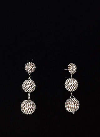 Sparkly Perfection Ball Earrings
