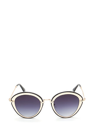 Naturally Cool Metallic Trim Sunglasses