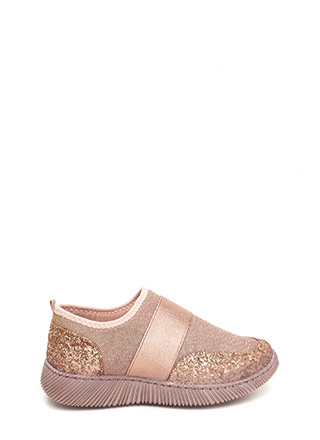 In A Band Sparkly Slip-On Sneakers