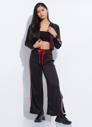 Right On Track Striped Top 'N Pants Set