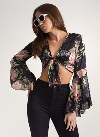 Freshly Picked Tied Floral Blouse