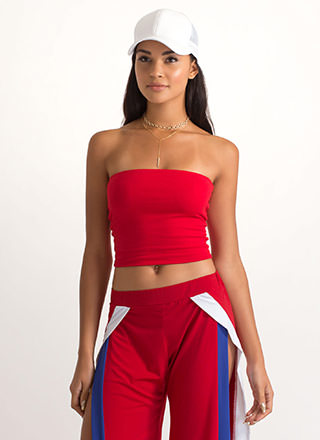 Infinite Possibilities Cropped Tube Top