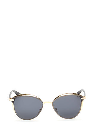 Fashion Editor Shiny Rounded Sunglasses
